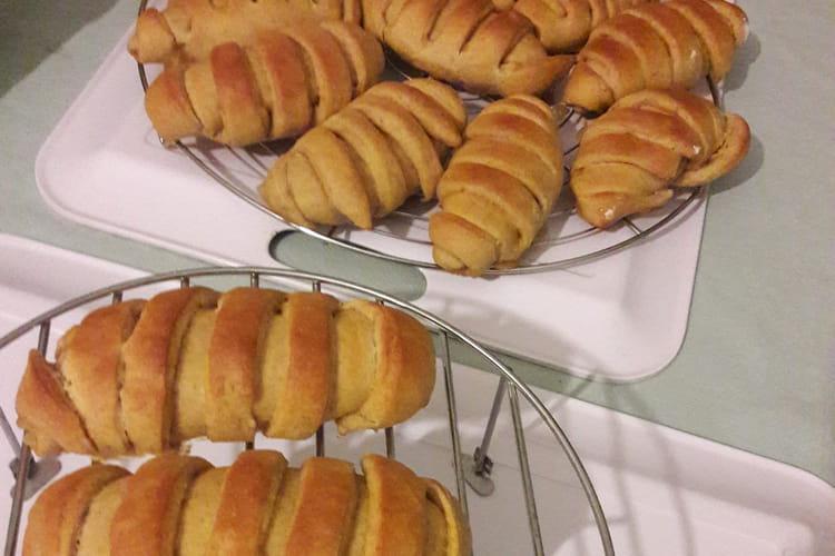 Petits pains briochés à la compote