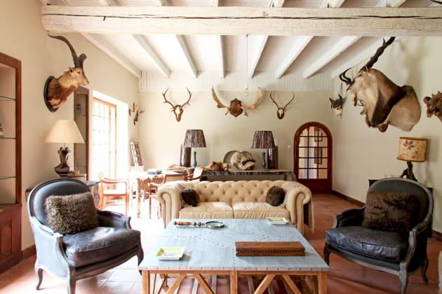 Un salon de chasse