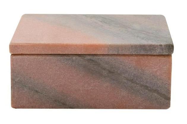 Boîte en marbre rose par FLEUX