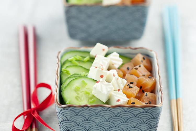 Salade concombre et saumon, Caprice des Anges