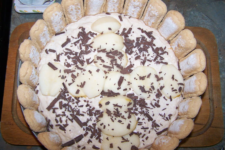 Charlotte chocolat et poires