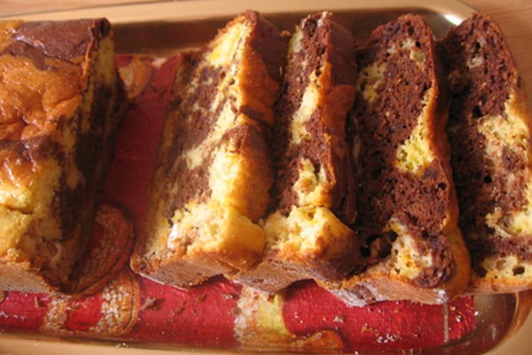 Marbré moelleux chocolat-orange