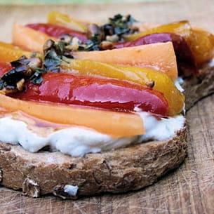 bruschetta melon-poivron