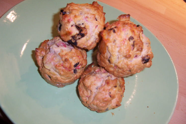 Muffins tomates séchées et mozzarella