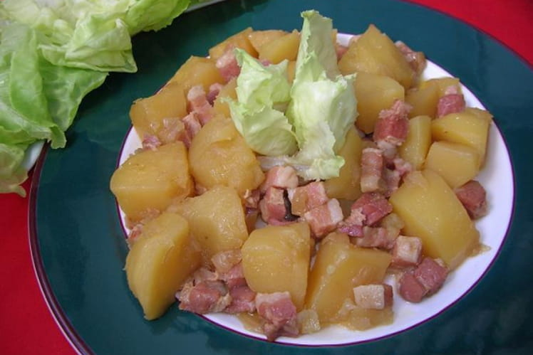 Pommes de terre au lard fumé