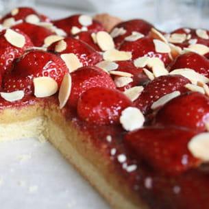 tarte fraises-amandes