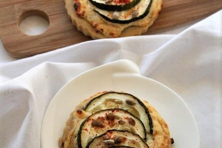 Tartelettes bio ricotta et courgettes sans gluten et sans oeufs
