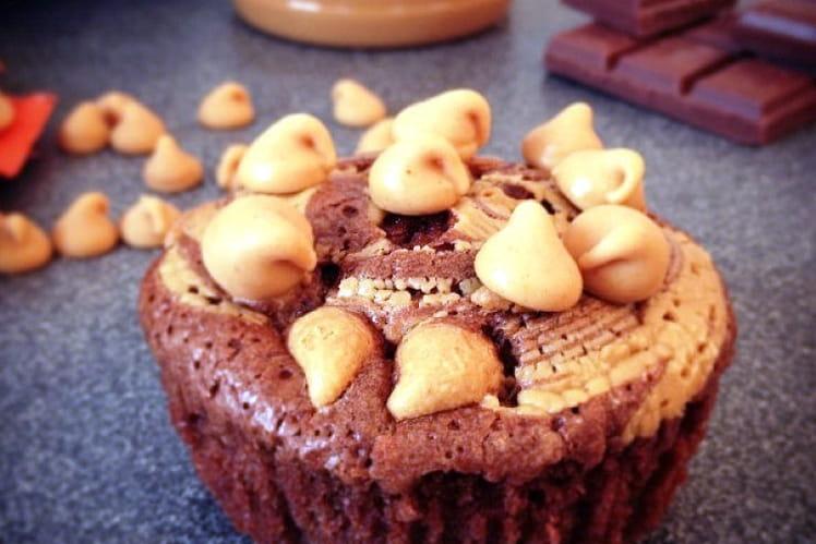 Muffins chocolat et cacahuète