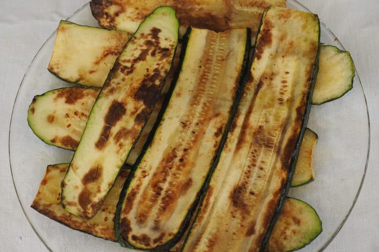 Aubergines, courgettes et pommes de terre à la plancha