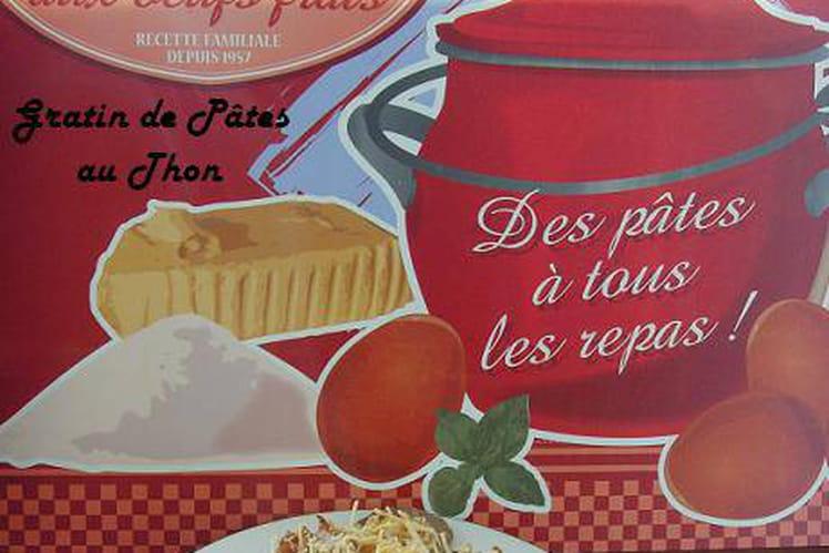 Gratin de pâtes au thon