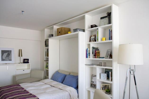 une biblioth que parfaitement int gr e. Black Bedroom Furniture Sets. Home Design Ideas