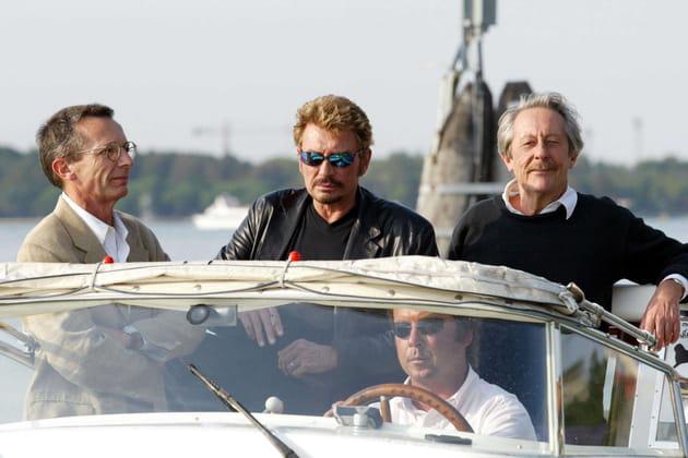 A Venise, avec Johnny Hallyday et Patrice Leconte