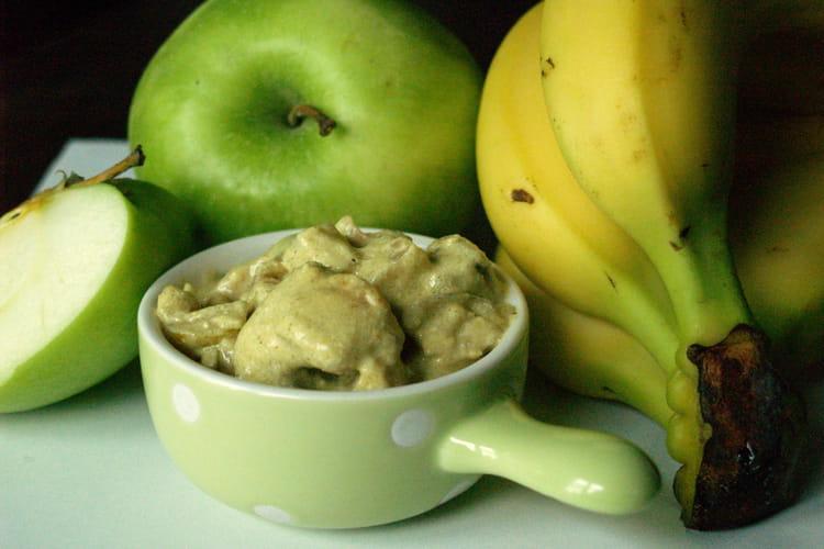 Curry de cuisses de grenouilles à la pomme et à la banane