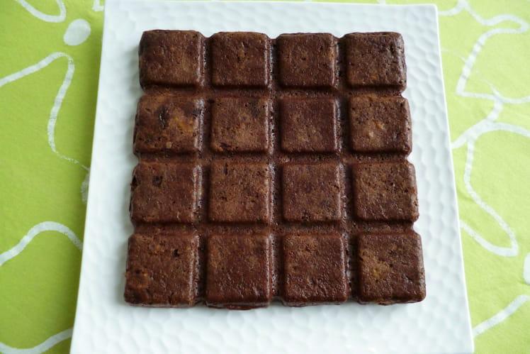 Gâteau cacao, châtaigne, pommes végan