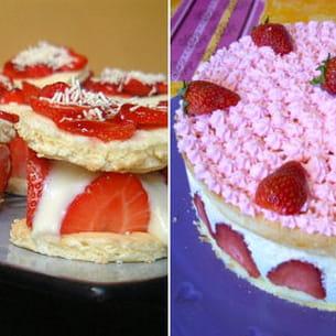 mini fraisier régime et fraisier au mascarpone léger comme une mousse