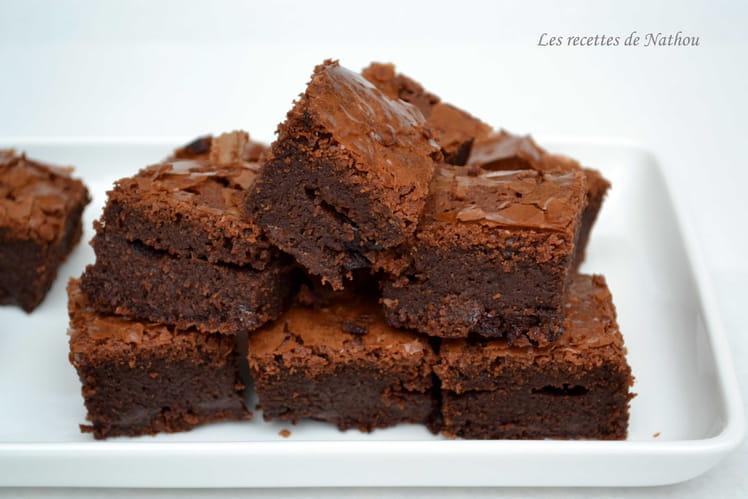 Brownie au chocolat noir et pépites fantômes