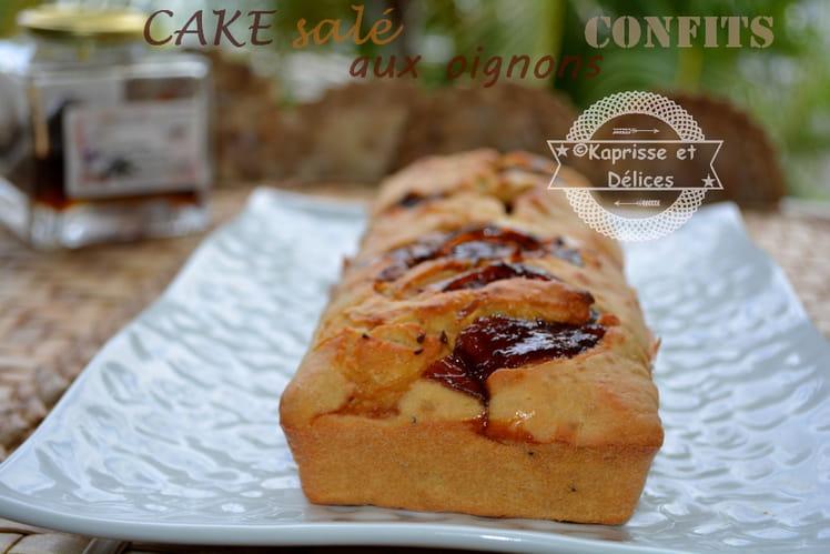 Cake aux oignons confits