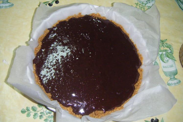 Tarte au chocolat et rhum