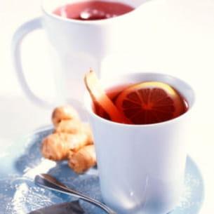 thé aux cranberries et gingembre