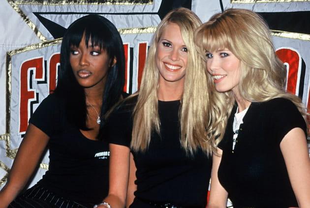 Naomi Campbell, Elle McPherson et Claudia Schiffer le 7avril 1995