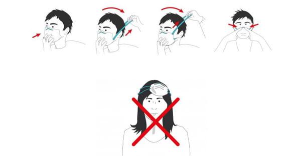 comment mettre un masque de protection