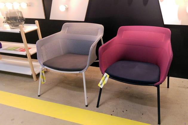 Fauteuils IKEA PS 2017 en tissage 3D