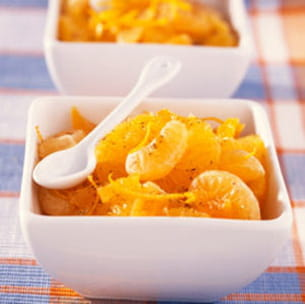 salade d'oranges et clémentines épicées