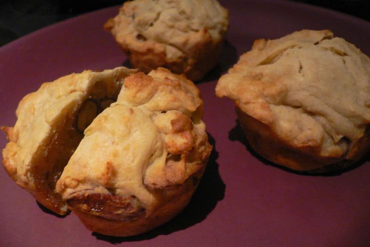 Muffins fondants aux noix de toutes sortes