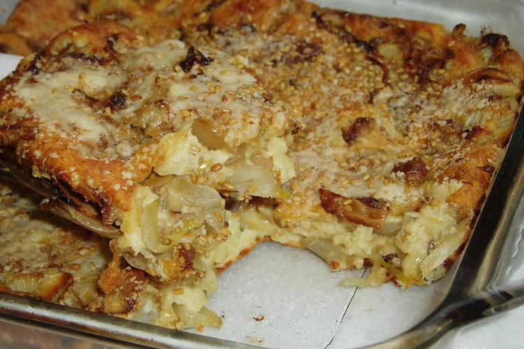 Clafoutis aux endives et parmesan