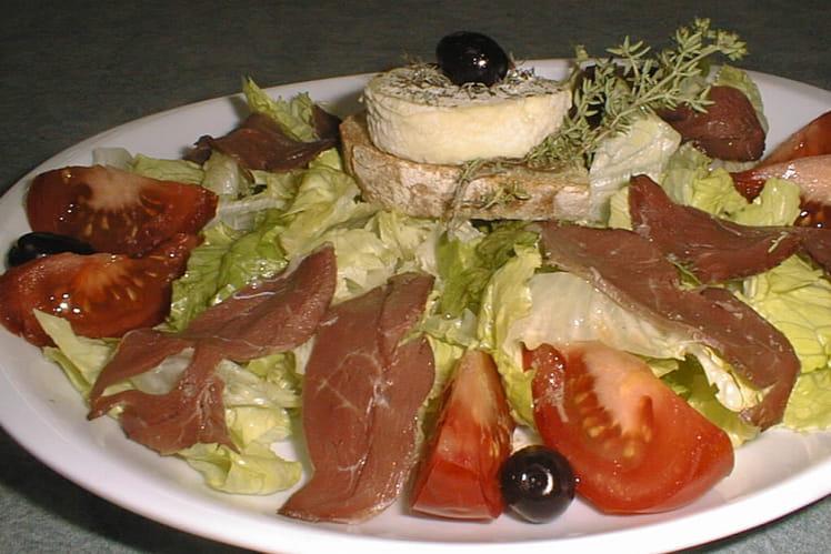 Salade au chèvre et  magrets