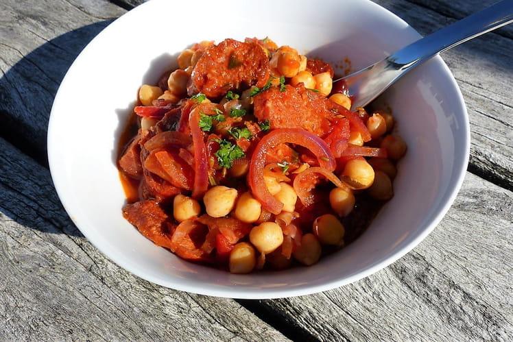 Ragoût express de pois chiches au chorizo (cuisine du placard)