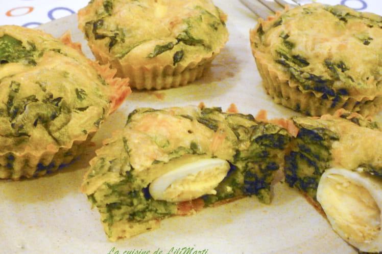 Muffins épinards et oeufs de caille