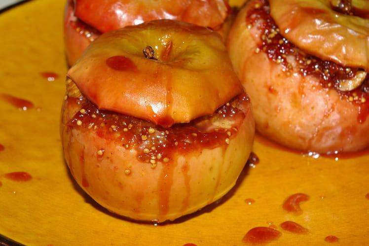 Pommes farcies à la compotée de figues fraîches
