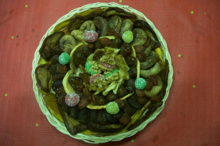 Fruits déguisés à la noix de coco