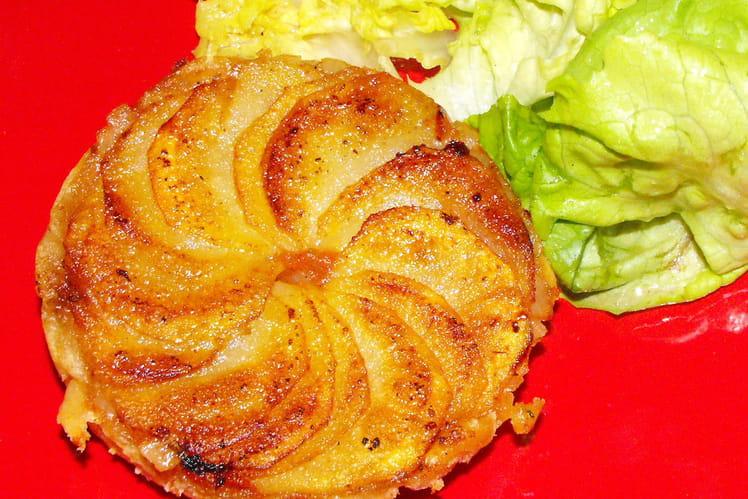 Tartelette tatin de pomme de terre et chèvre