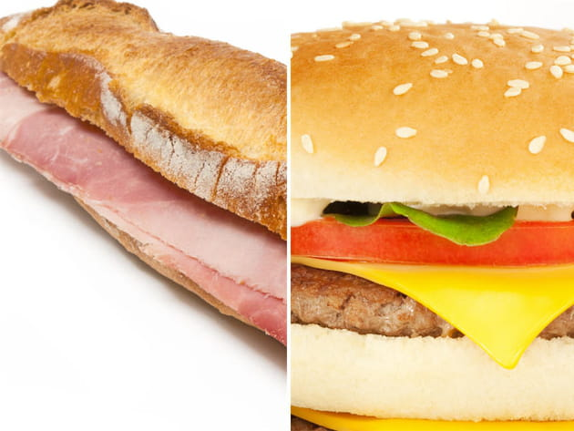 Sandwich jambon beurre ou hamburger ?