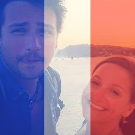 Quentin Bourdy et Noëmie Honiat, bleu, blanc,rouge