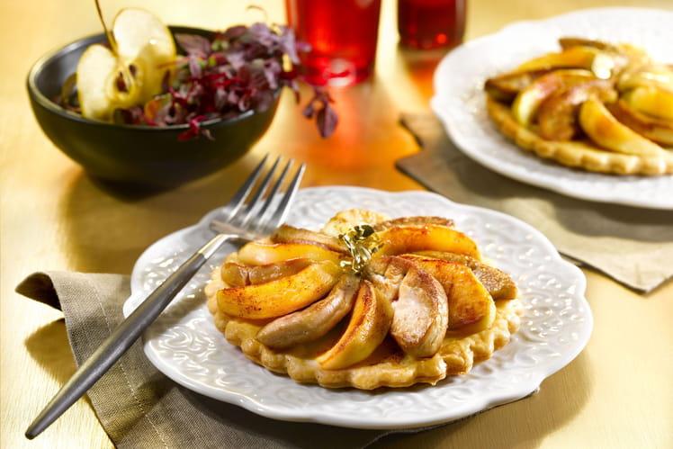 Tartelettes de foie gras aux pommes