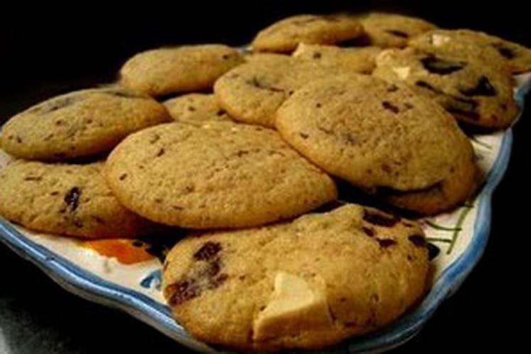 Cookies chocolat blanc/chocolat noir