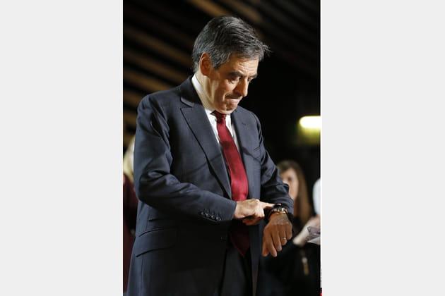 François Fillon a compté les minutes jusqu'au résultat des élections