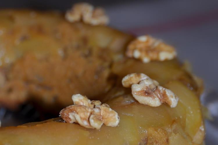 Couronne aux noix, pommes et spéculoos