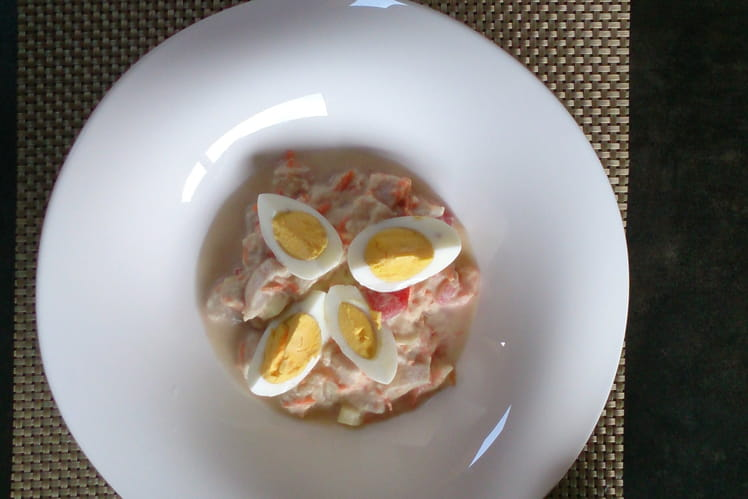 Salade tahitienne façon ceviche