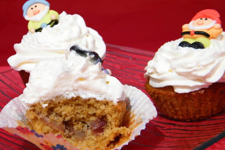 Cupcakes à la pomme et chantilly de cidre