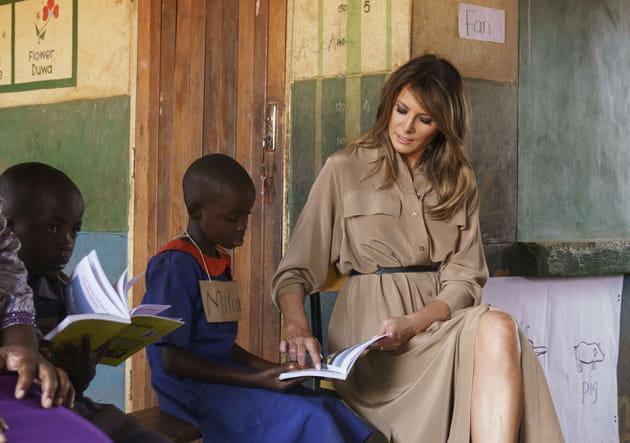 Melania Trump s'improvise maîtresse au Malawi