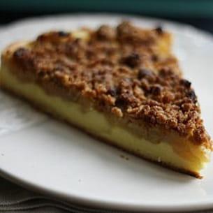 tarte-flan aux pommes et crumble spéculoos