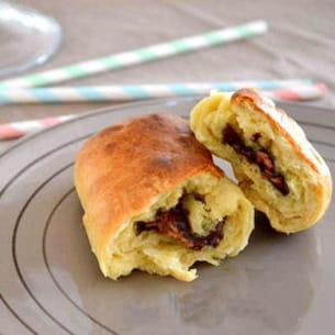 petits pains au lait au chocolat noir praliné