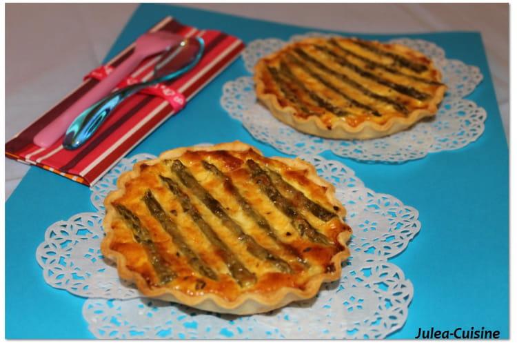 Quiche asperges, poulet et parmesan