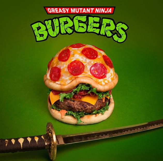 Burger Pizza spécial Tortue Ninja