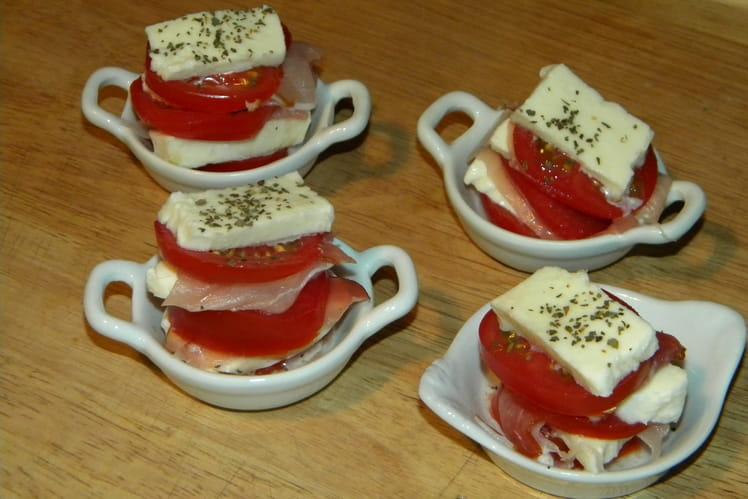 Mille-feuilles de tomate