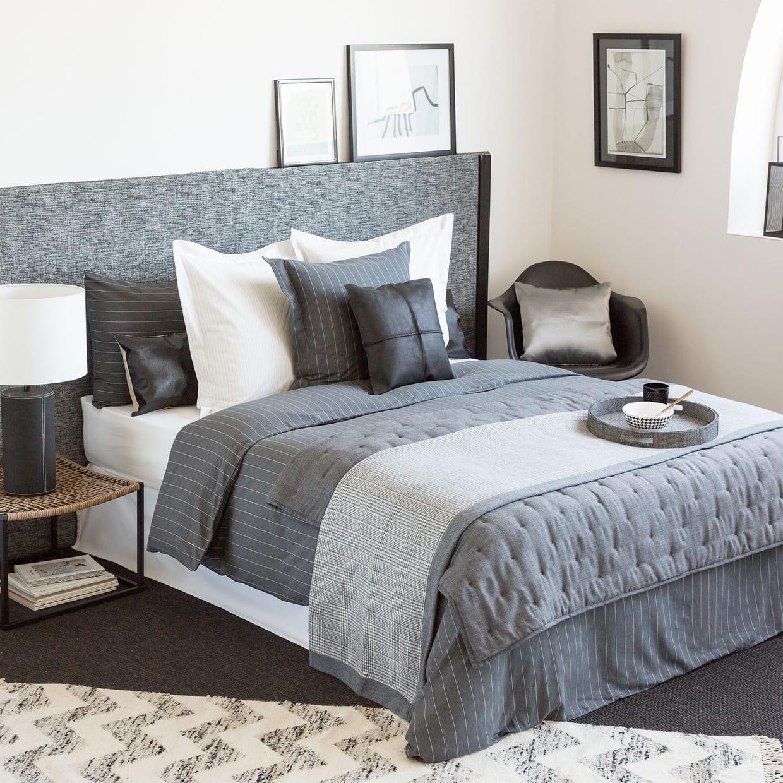parure de lit rayures tennis chez zara home. Black Bedroom Furniture Sets. Home Design Ideas